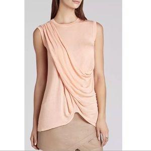 BCBG MaxAzria Drape Peach Top 🍑 XS